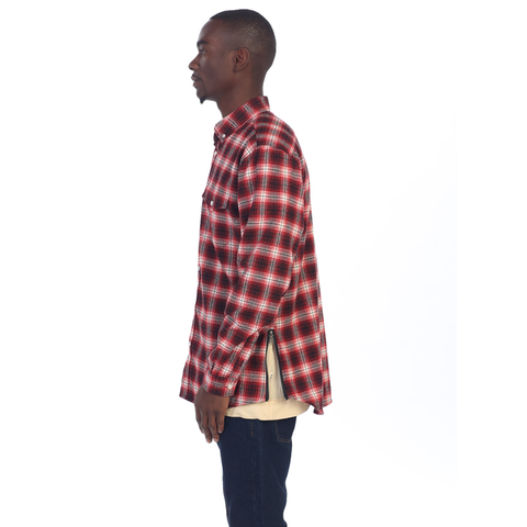 EPTM| Size Zip Flannel / Red