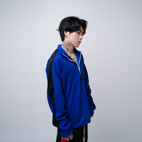 EPTM | Half Zip Track Jacket / Blue Black