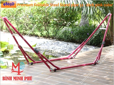 [4803D] KHUNG SẮT ỐNG TRÒN PHI 32 TAY DẬP CONG - Minh Phu Portable Folding Steel Stand Round Tube 32mm pipe with curve stamping arm