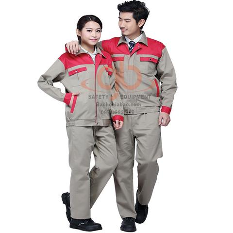 Quần áo bảo hộ phối màu túi hộp vải kaki pangzim hàn quốc BA09