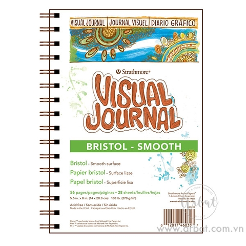 Sổ Sketchbook Strathmore Visual Journal Bristol