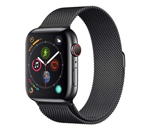AppleWatch S4 - 44mm (GPS+LTE) Space Black Stainless Steel/Space Black Milanese Loop