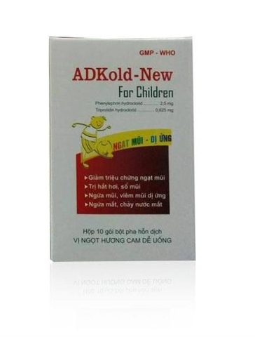 ADKold-New for Children hộp 10 gói