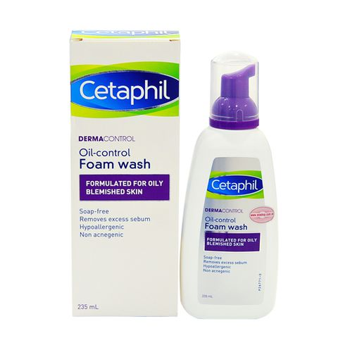 Cetaphil Derm oil control foam wash.