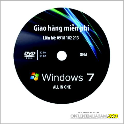 Đĩa DVD cài win 7 ALL IN ONE