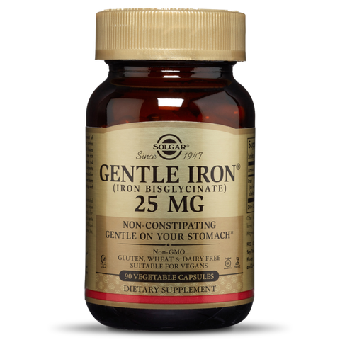 Solgar® Gentle Iron 25mg 90 Vegetable Capsules