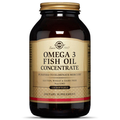 Solgar® Omega 3 Fish Oil Concentrate 120 softgels