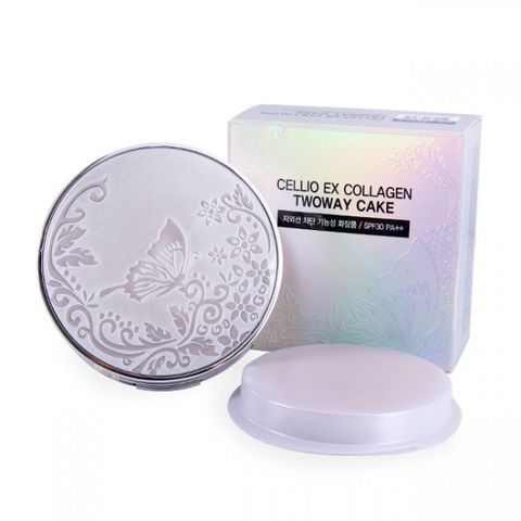 PHẤN PHỦ CELLIO EX COLLAGEN TWOWAY CAKE