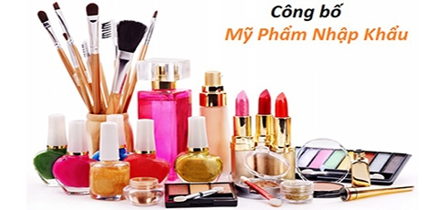 Procedure of imported cosmetics declaration