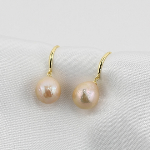 Gold plated - Baroque pearl Earrings