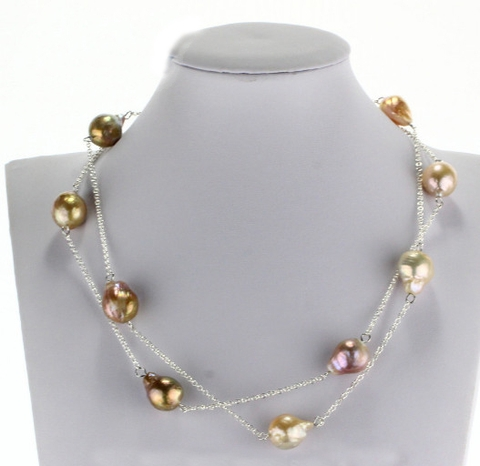 90 cm big Baroque Pearl, silver Necklace in Hanoi,