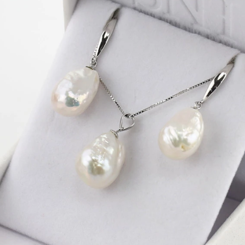 Baroque Pearl Jewelry Set