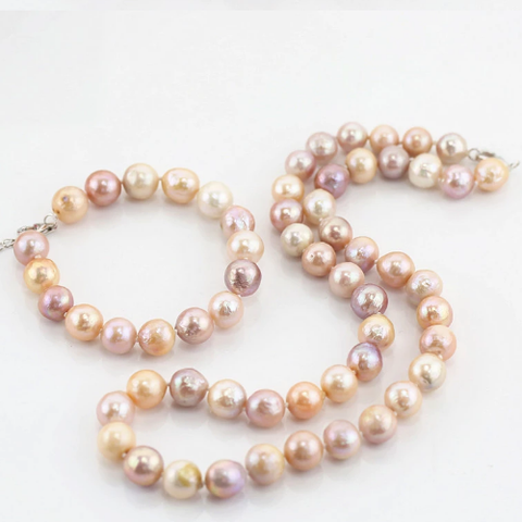 Mixed color drop pearl set