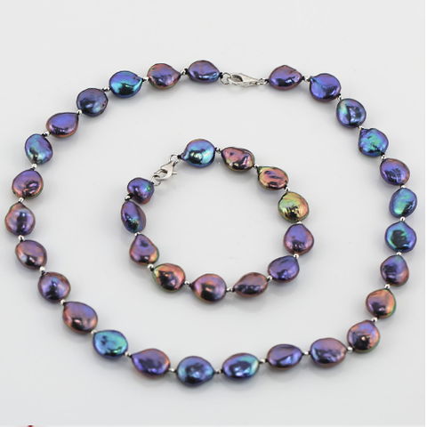 Purple Luster of Pearls  Jewelry Set
