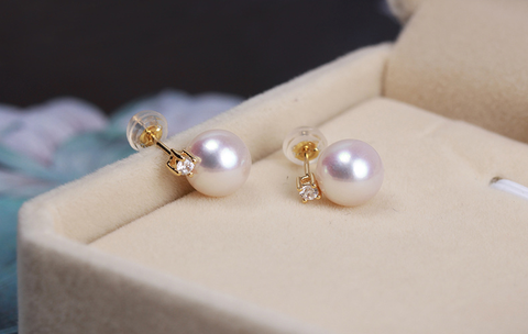 Akoya gorgeous 18k gold  pearl Earrings