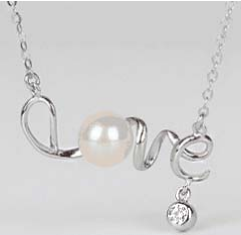 Pearl with Love design Necklace