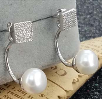 Button Pearl with good design Earrings