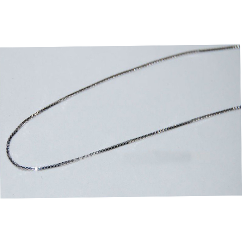 18' Sterling silver box chain