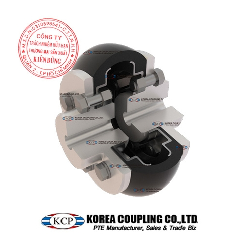 Khớp nối bánh xe cao su KCP Tire Coupling KCS-M Complete