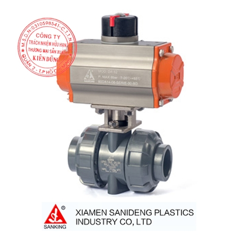 XIAMEN SANKING PNEUMATIC ACTUATED TRUE UNION BALL VALVE