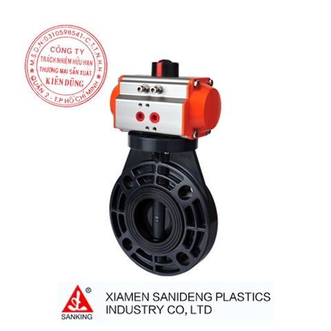 XIAMEN SANKING PNEUMATIC ACTUATED BUTTERFLY VALVE