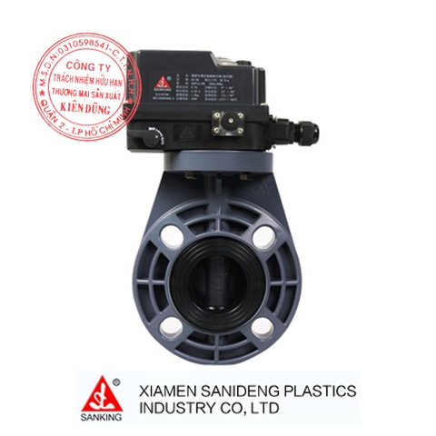 XIAMEN SANKING ELECTRIC ACTUATED BUTTERFLY VALVE