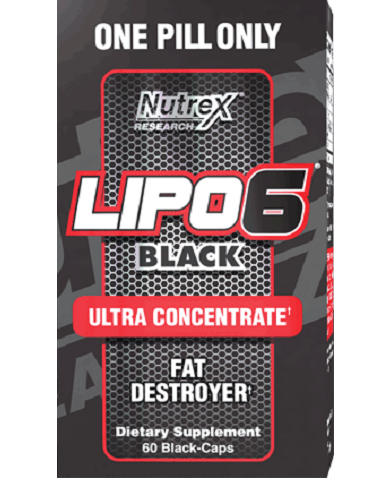 Nutrex Lipo-6 Black Ultra Concentrate, 60 Black-Caps