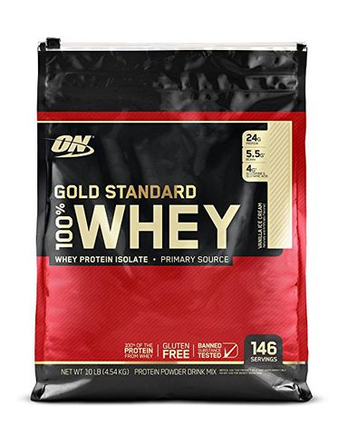 ON Gold Standard 100% Whey, 10Lbs (4540g)