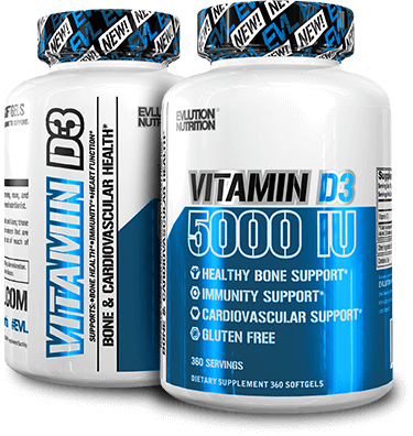 EVLUTION NUTRITION Vitamin D3 5000 IU , 360 Softgels