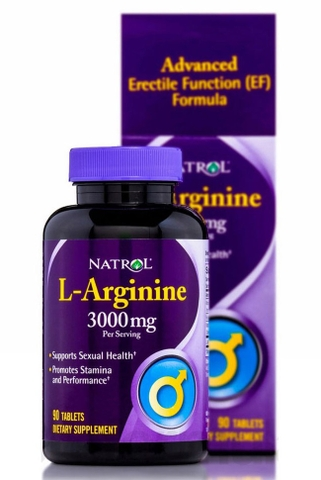 Natrol L-Arginine 3000mg, 90 Tablets