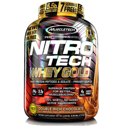 MuscleTech NITROTECH 100% Whey Gold, 5.5Lbs