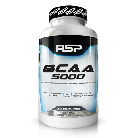 RSP Nutrition BCAA 5000, 240 Capsules