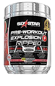 Six Star Pro Nutrition Pre-Workout Explosion Ripped, 33 Servings