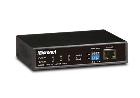 SP6005P4 4-port PoE Ethernet Switch