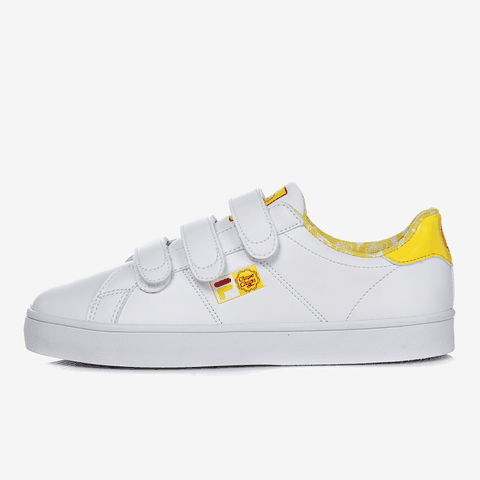 FILA BACK COURT DELUXE WHITE AND YELLOW - Giày FILA nữ, giày FILA nam