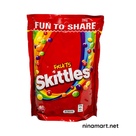 KẸO SKITTLES FRUITS 200G