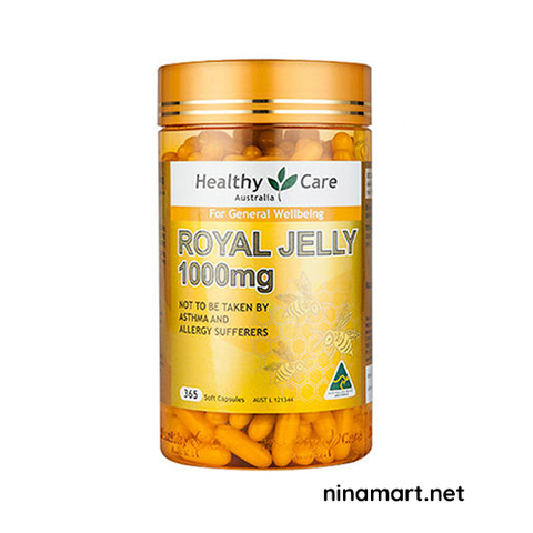 Sữa ong chúa Healthy Care của Úc Healthy Care Royal Jelly 1000mg 365 viên