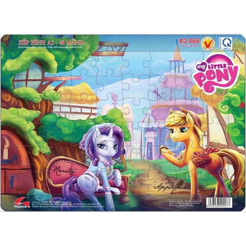 Xếp hình A3-066 Rarity and Applejack
