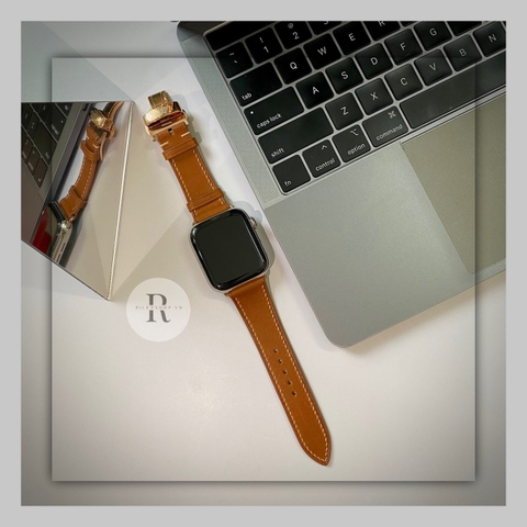 Dây Da handmade Apple Watch -  khóa HM