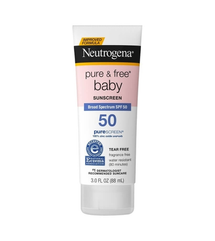 KEM CHỐNG NẮNG BABY FACE NEUTROGENA PURE&FREE  SPF-50
