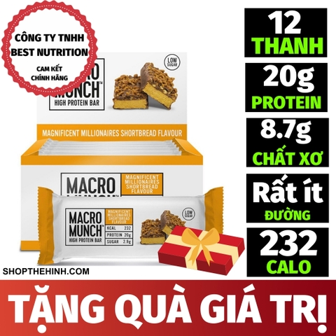 MACRO MUNCH PROTEIN BAR (12 THANH)