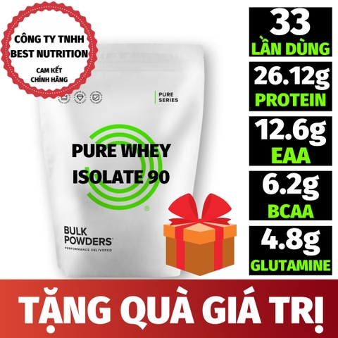 PURE WHEY ISOLATE 90 (1KG - 33 LẦN DÙNG)