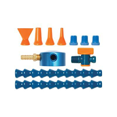 Coolant Hose Magnetic Base Manifold Kit, 12 Piece, 1/4