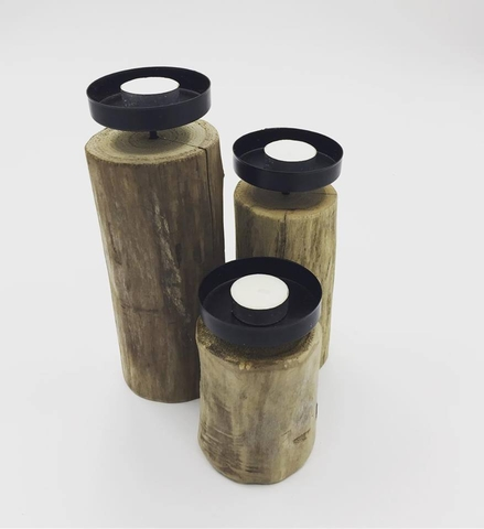 Wooden Candle Stick (Small Size)