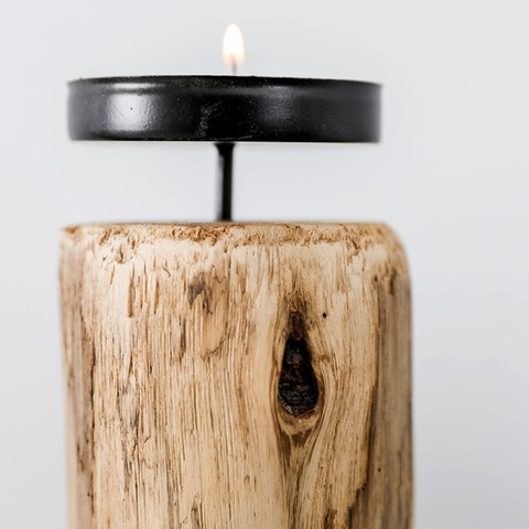 Wooden Candle Stick (Large Size)