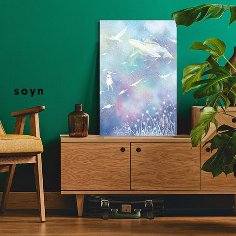 Tranh Canvas The Dream, Sky,, Dolphin, Birds S0124