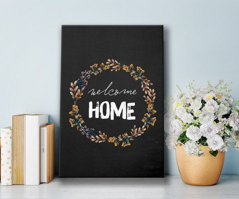 Tranh Welcome home, black , flower