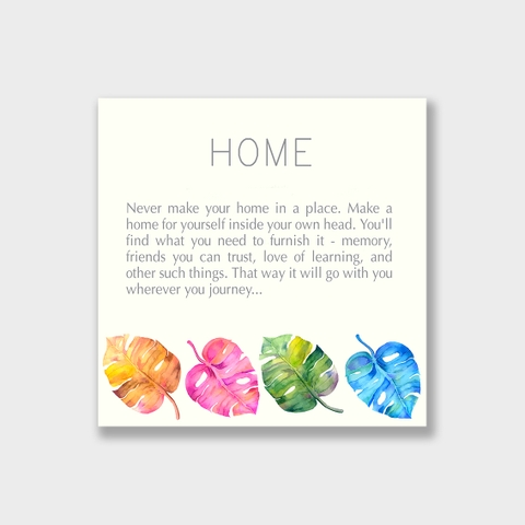 Tranh Home quote, Monstera leaves, Tropical S0157