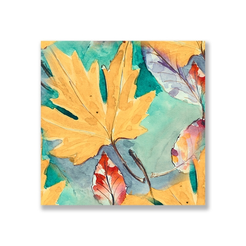 Tranh Autumn Leaves watercolor S0230