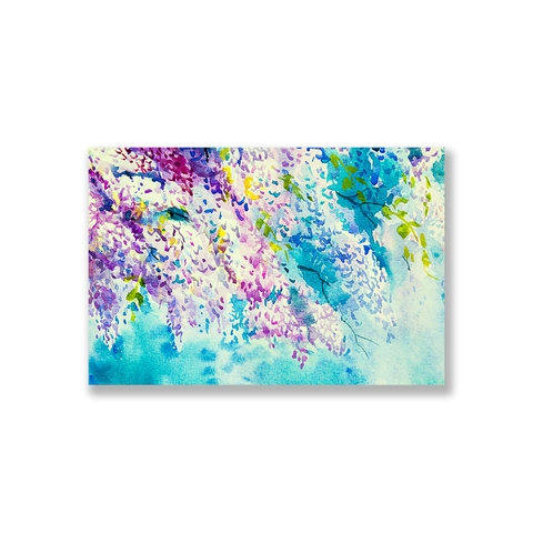 Tranh Wisteria flower watercolor S2032